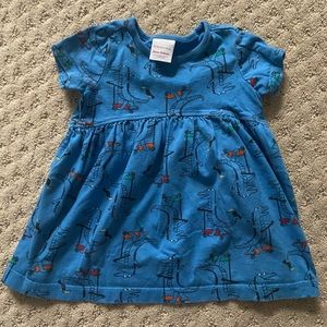 Hanna Andersson Alligator Dress, 12-18 MOS